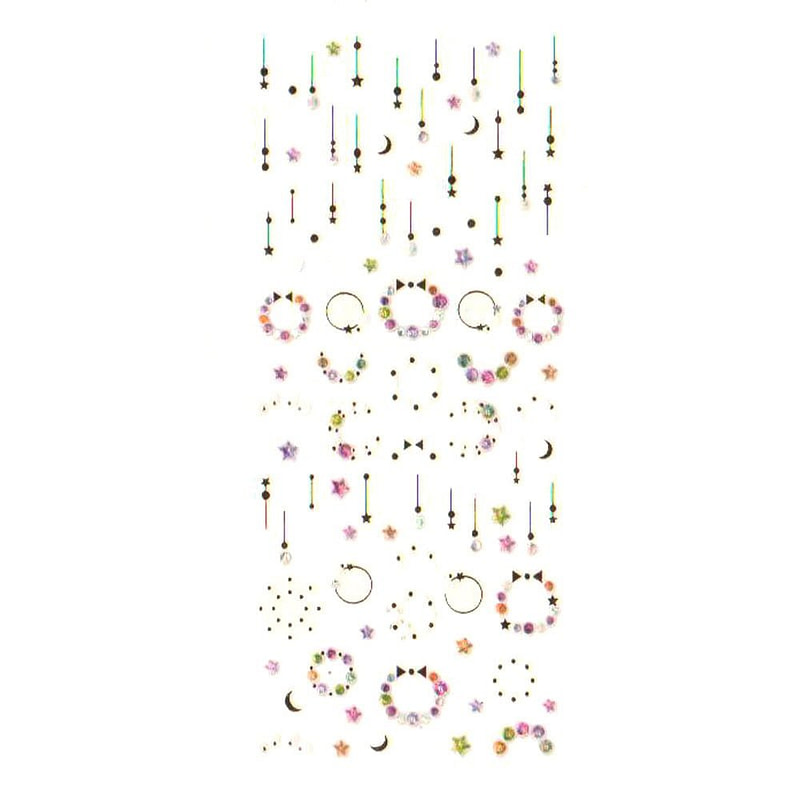 Nail Art naljepnica Colourful Christmas