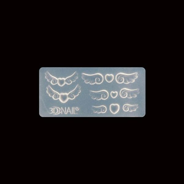 3D silikonski kalup – srce/krila