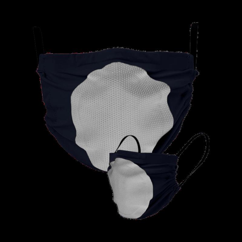 Maska za lice s filterom (tamnoplava sa svjetlosivim filterom)