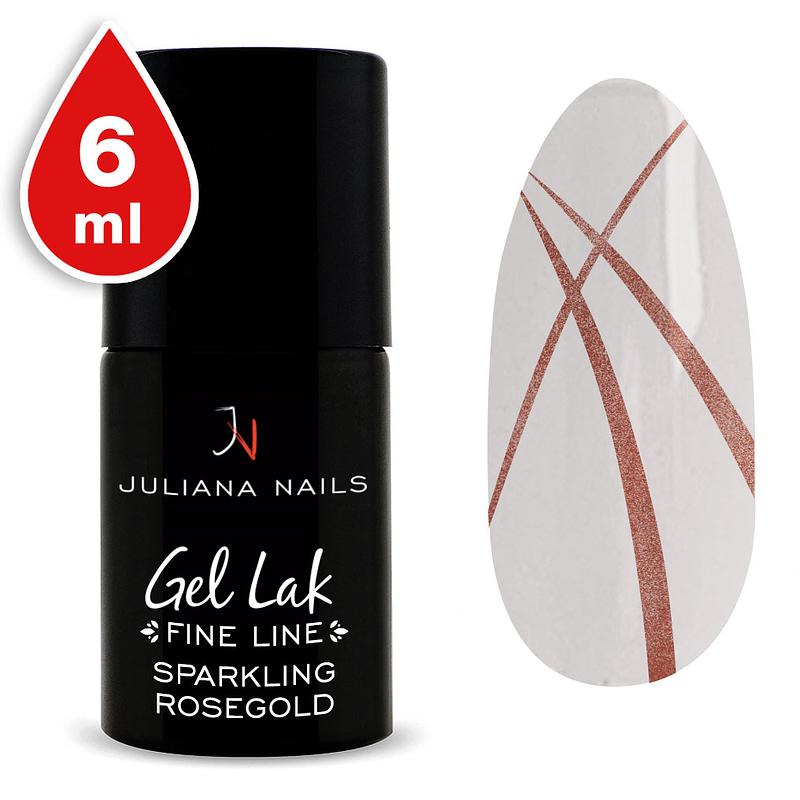Gel lak (trajni lak) Fine Line Sparkling Rosegold 6ml - Juliana Nails