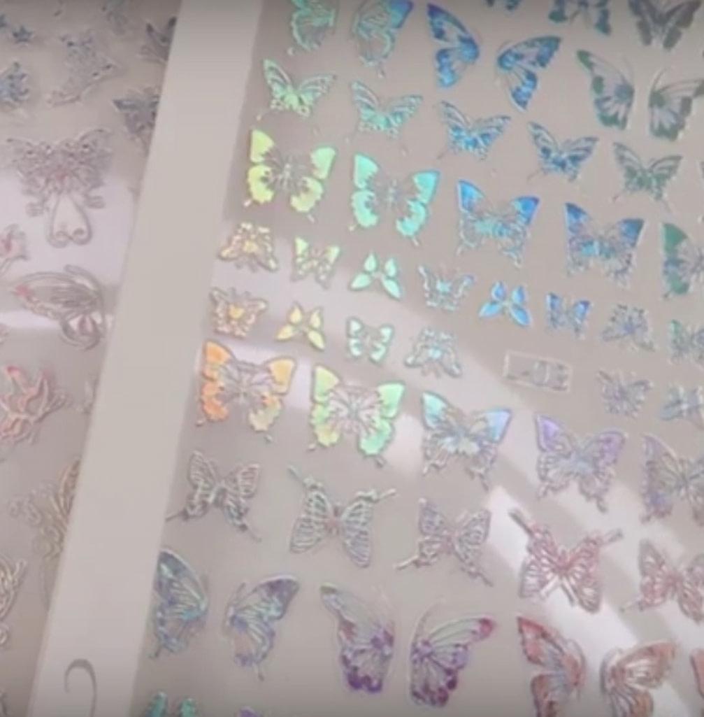 Holo Nail Art Naljepnice Butterfly Kisses 3
