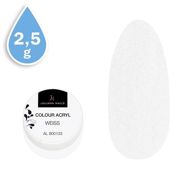 Svjetlucavi akril u boji bijeli 2,5g