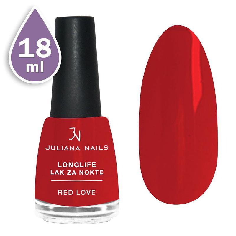 Longlife lak za nokte 18ml - red love