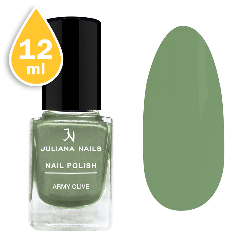 Lak za nokte Juliana Nails 12ml - army olive