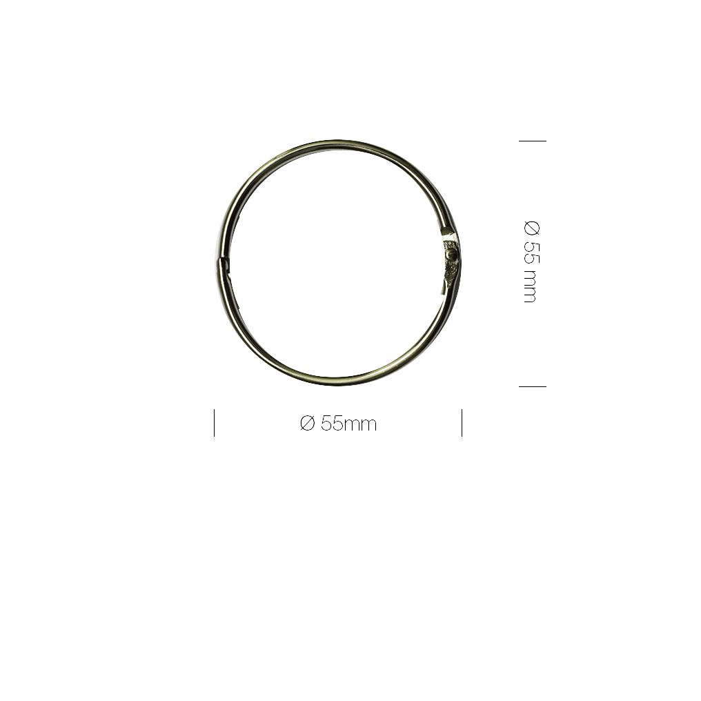 Triple show tipse crne s metalnim prstenom 50 kom.