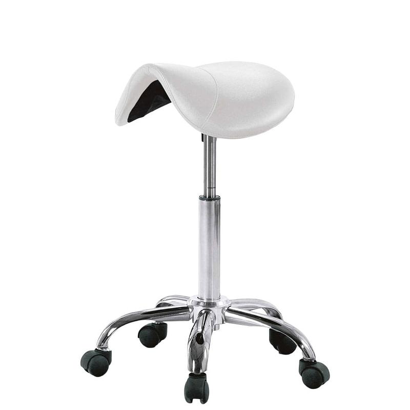 Ergonomski stolac s kotačićima - bijeli