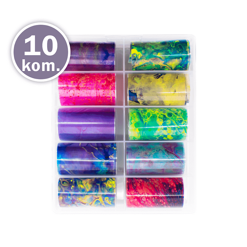 Kutija transfer folija Colorful Splash