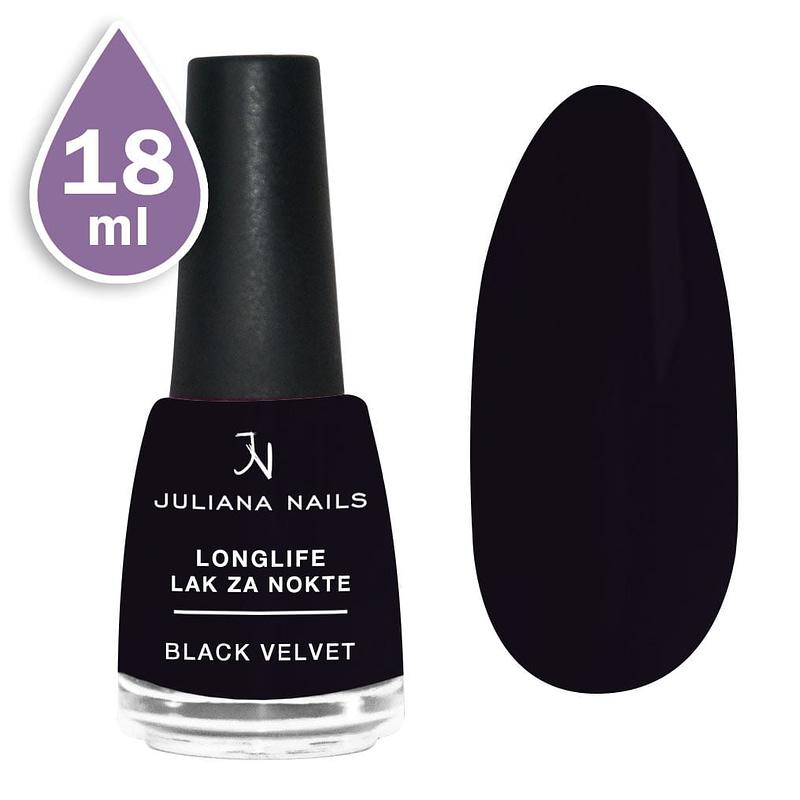 Longlife lak za nokte 18ml - black velvet