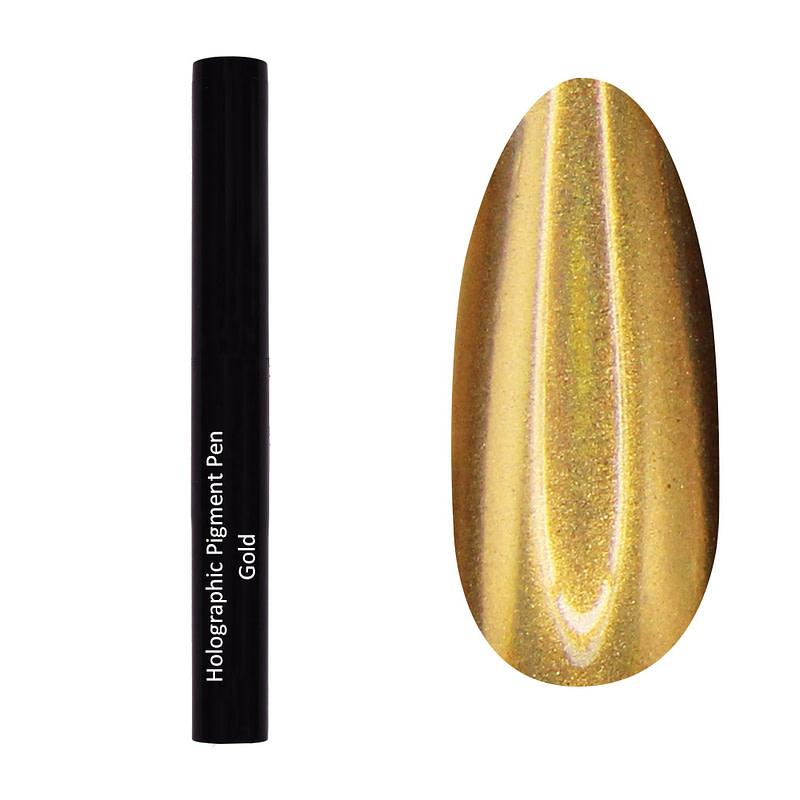 Olovka s holo pigmentom - Gold - Juliana Nails