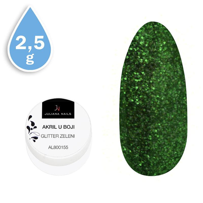 Glitter akril u boji zeleni 2,5g