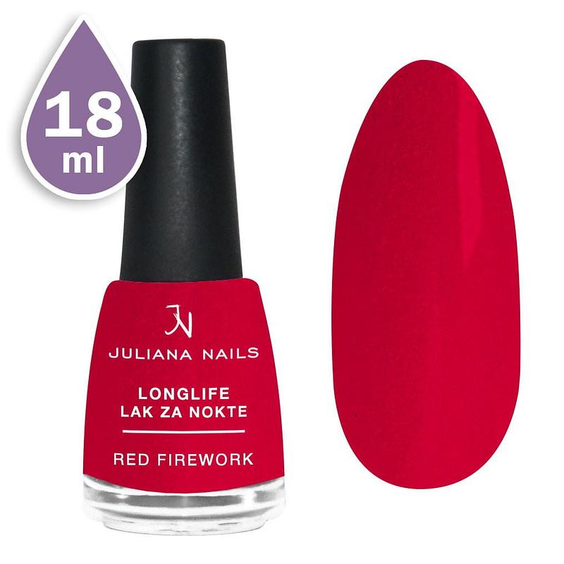 Longlife lak za nokte 18ml - red firework
