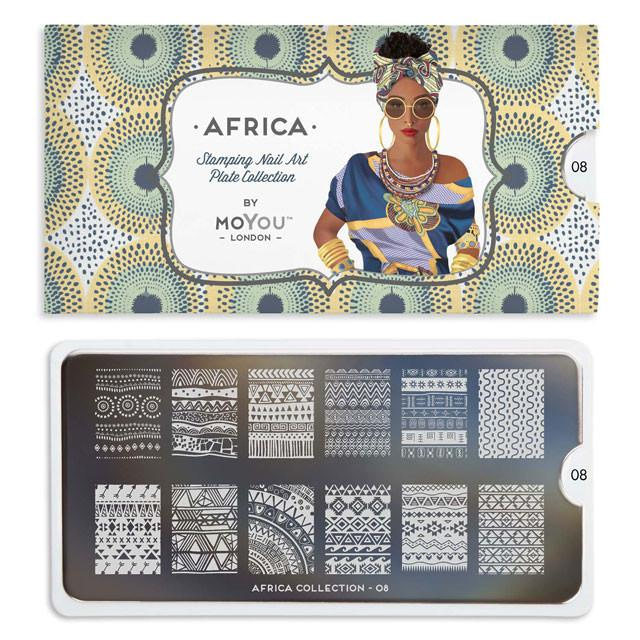 Šablona za štambiljanje MoYou Africa 08