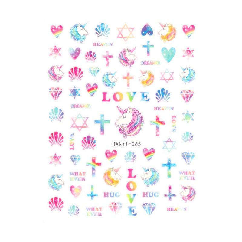 Nail Art naljepnica Unicorn Love
