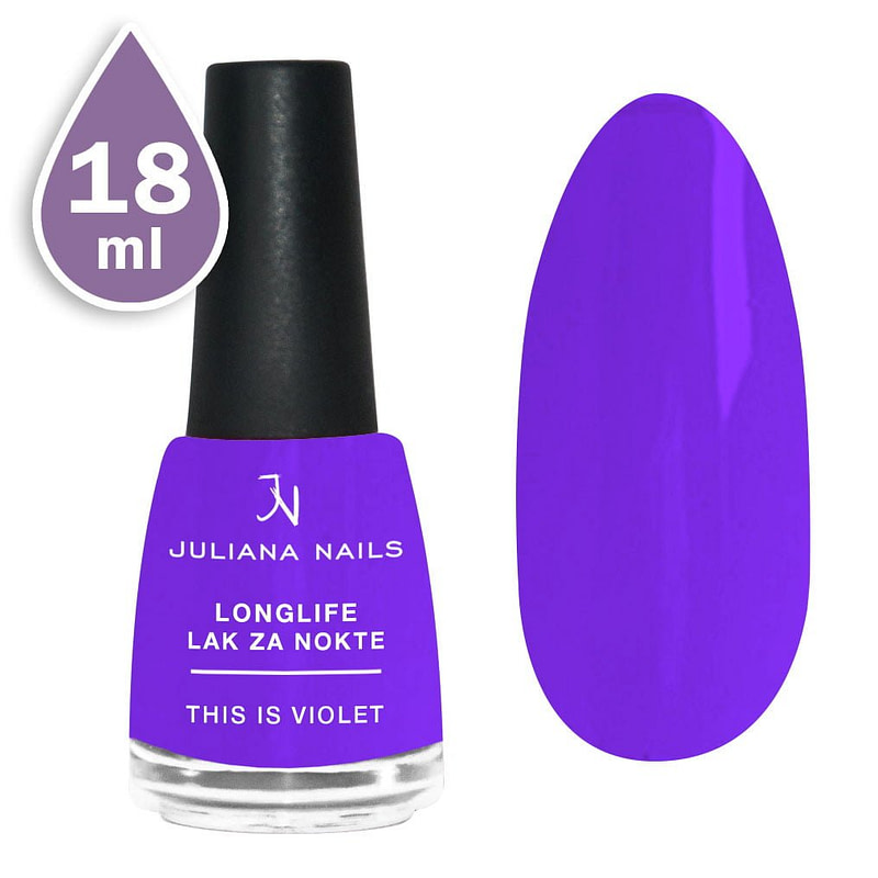 Longlife lak za nokte 18ml - this is violet