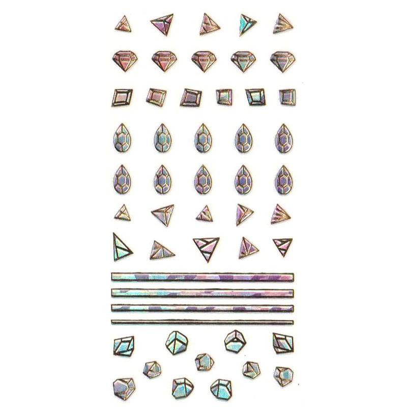 Nail Art naljepnica Glam Gems
