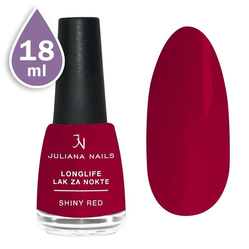 Longlife lak za nokte 18ml - shiny red