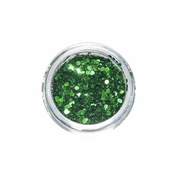 Nail Art Glitter Motiv okrugli zeleni S