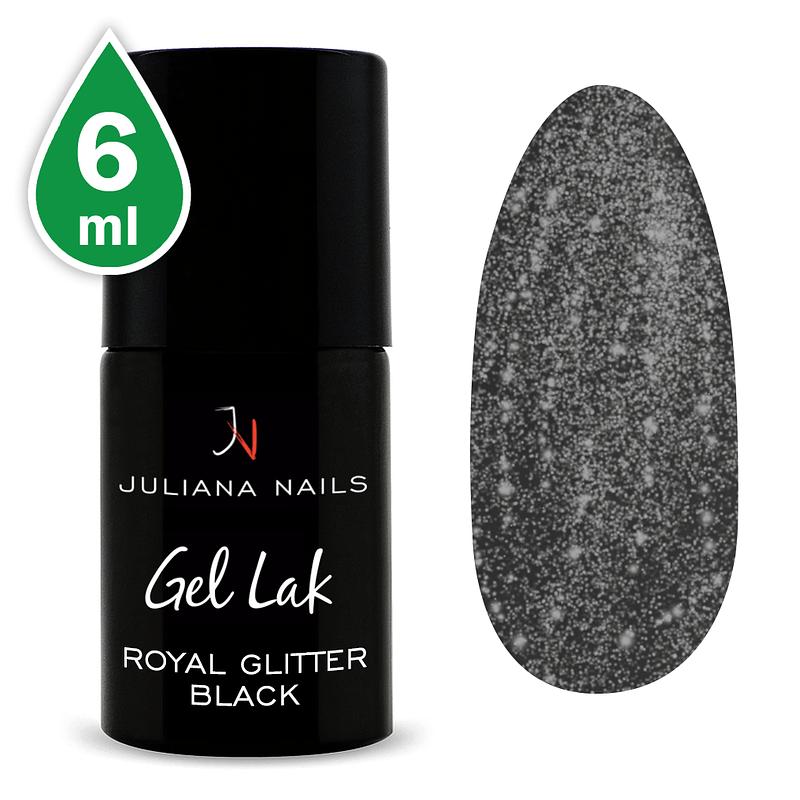 Gel lak (trajni lak) Royal Glitter Black 6ml