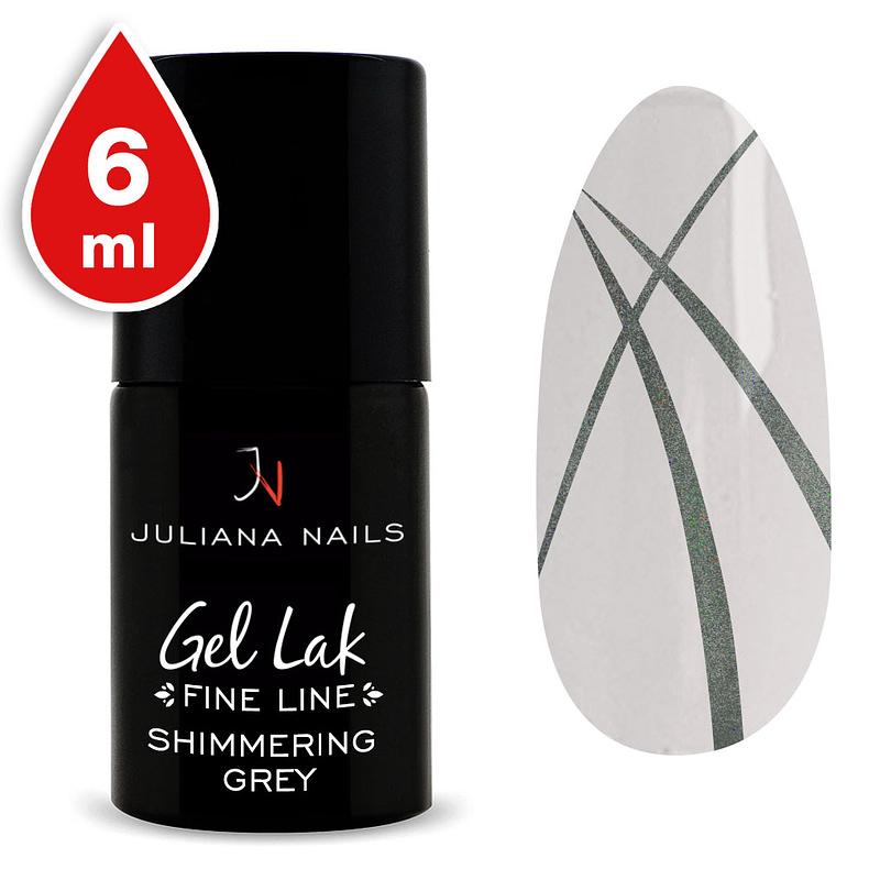Gel lak (trajni lak) Fine Line Shimmering Grey 6ml