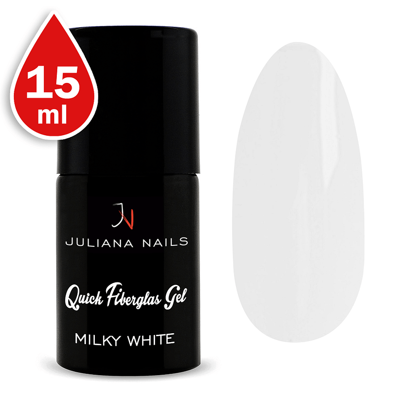 Quick Fiberglas Gel Milky White 15ml