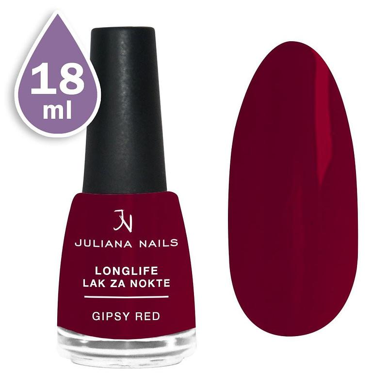 Longlife lak za nokte 18ml - gipsy red
