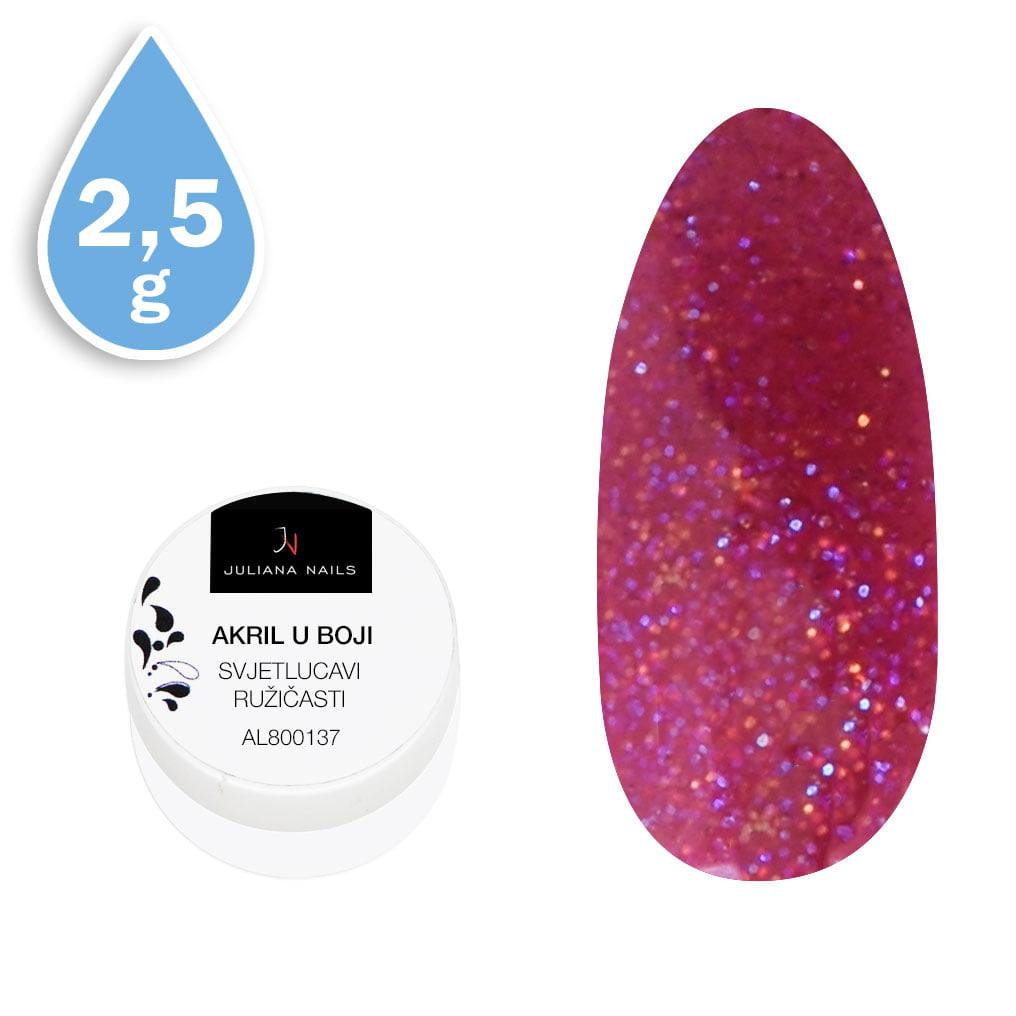 Svjetlucavi akril u boji ružičasti 2,5g