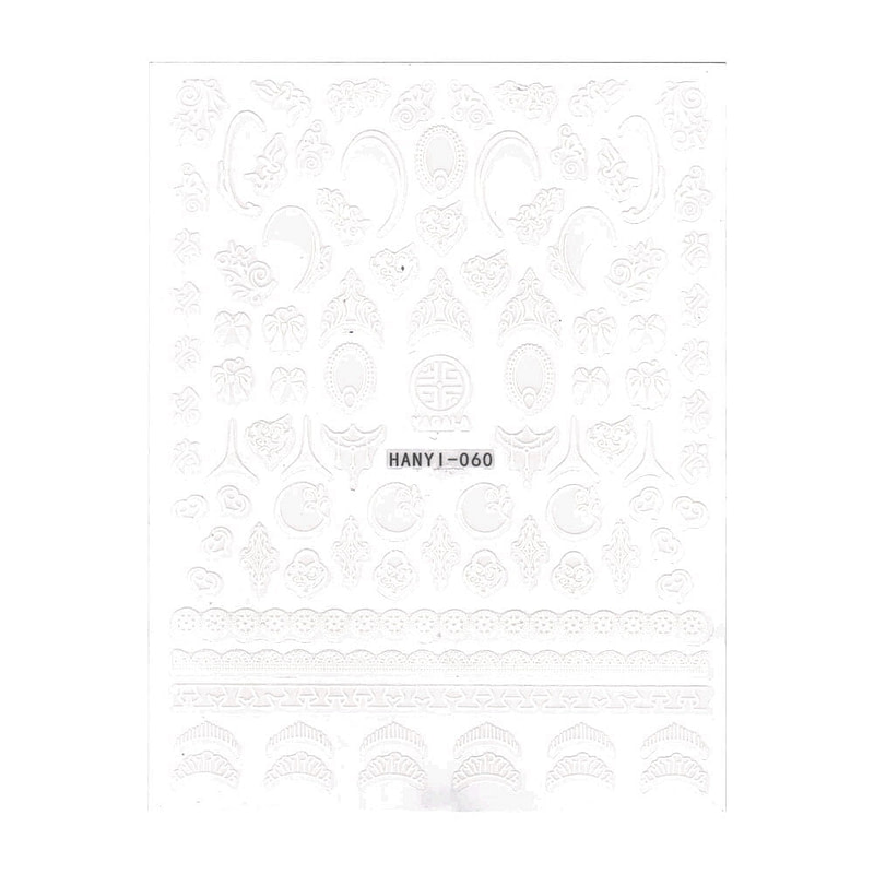 Nail Art naljepnica White Ornaments I