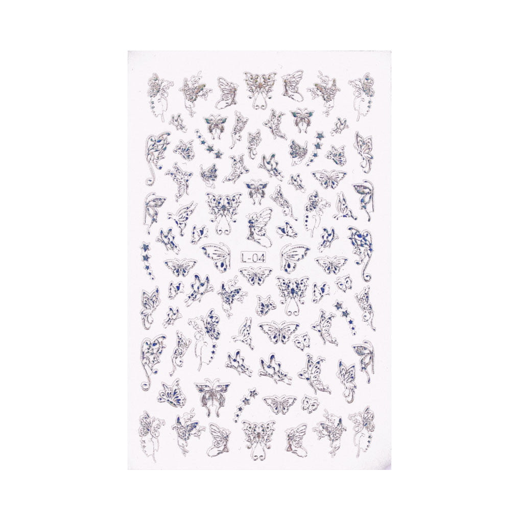 Holo Nail Art Naljepnice Butterfly Kisses 3 - Juliana Nails