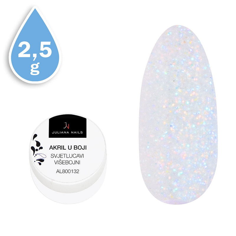 Svjetlucavi akril u boji višebojni 2,5g