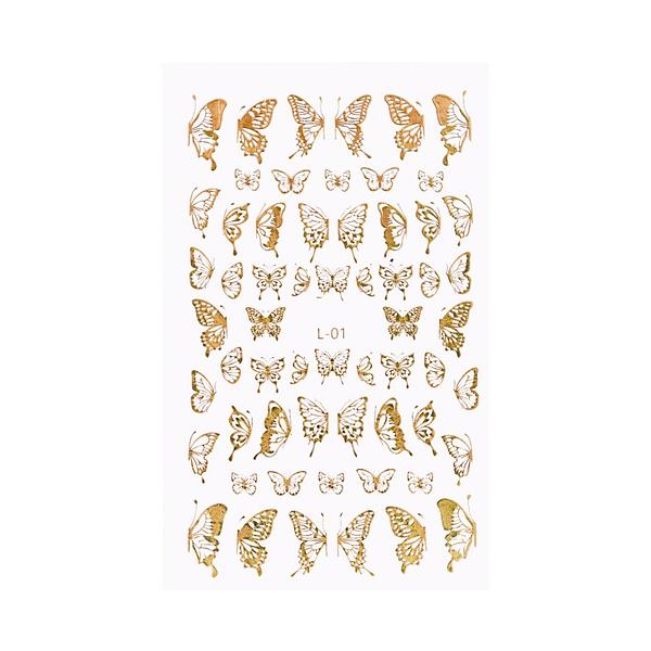 Holo Nail Art Naljepnice Butterfly Kisses 4 - Juliana Nails