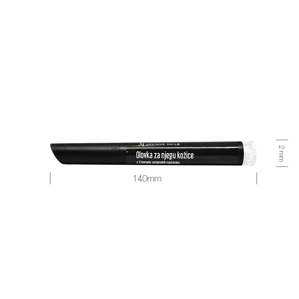 Olovka za njegu kožice s 3 komada zamjenskih nastavaka