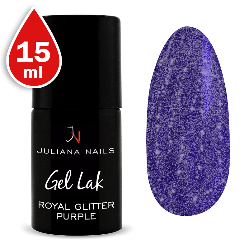 Gel lak (trajni lak) Royal Glitter Purple 15ml