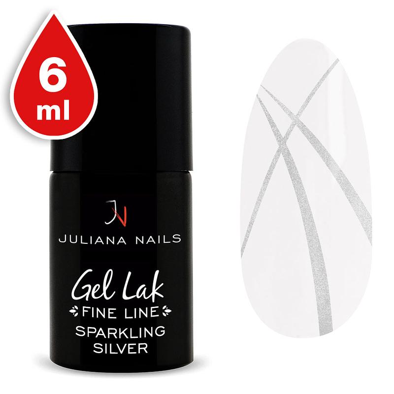 Gel lak (trajni lak) Fine Line Sparkling Silver 6ml - Juliana Nails