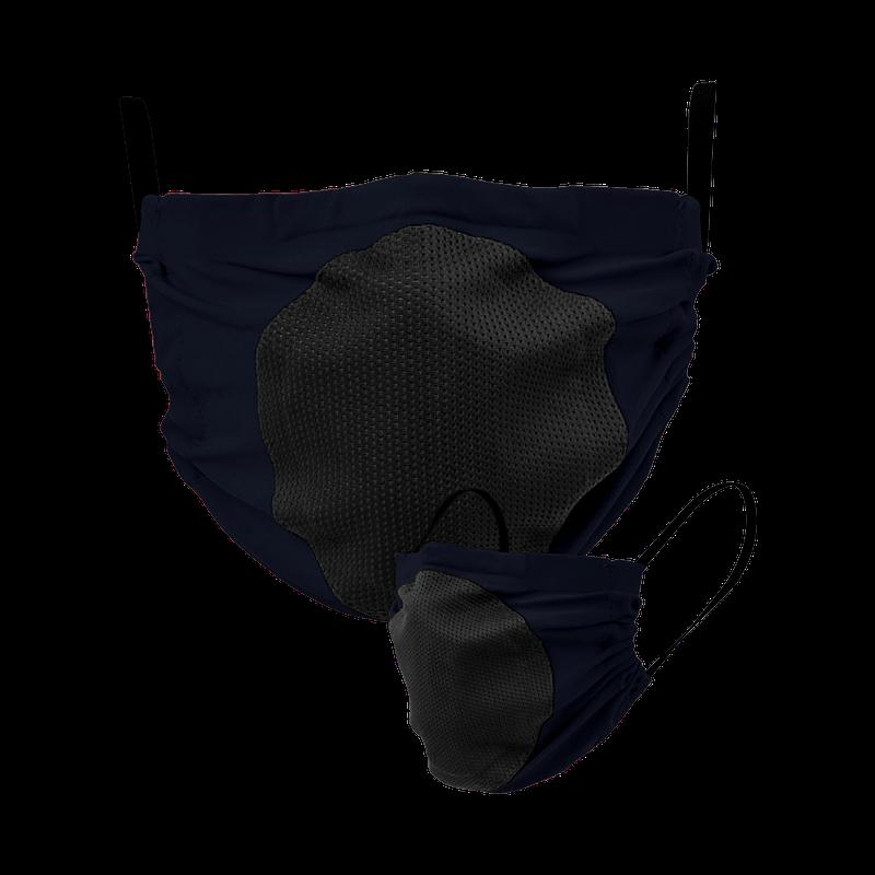 Maska za lice s filterom (tamnoplava s crnim filterom)