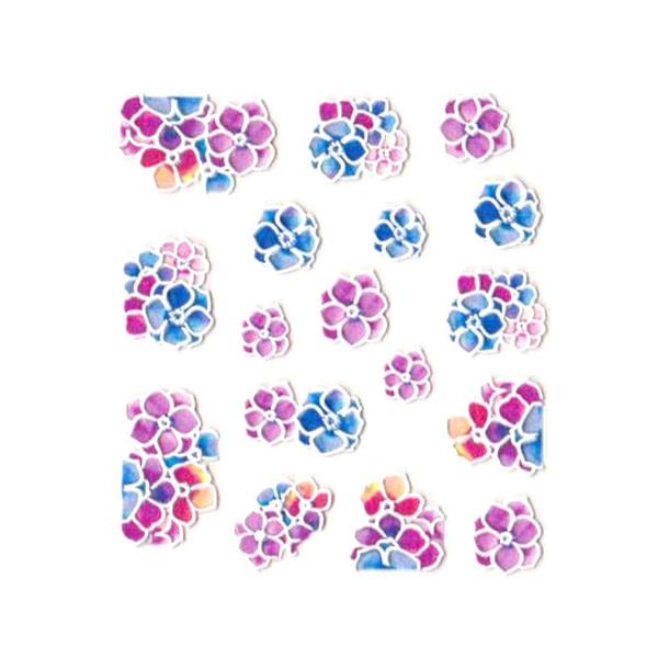 3D Nail Art naljepnica Flower Arrangement