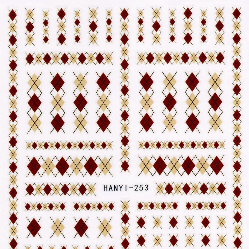 Nail art naljepnica Winter Pattern Brown