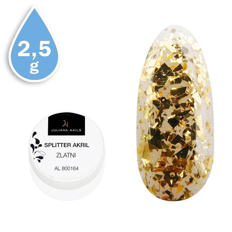 Splitter akril zlatni 2,5g