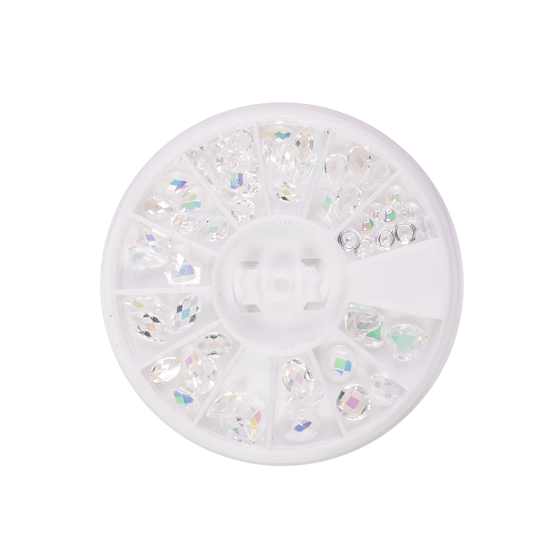 Kotač za nail art Clear Crystals