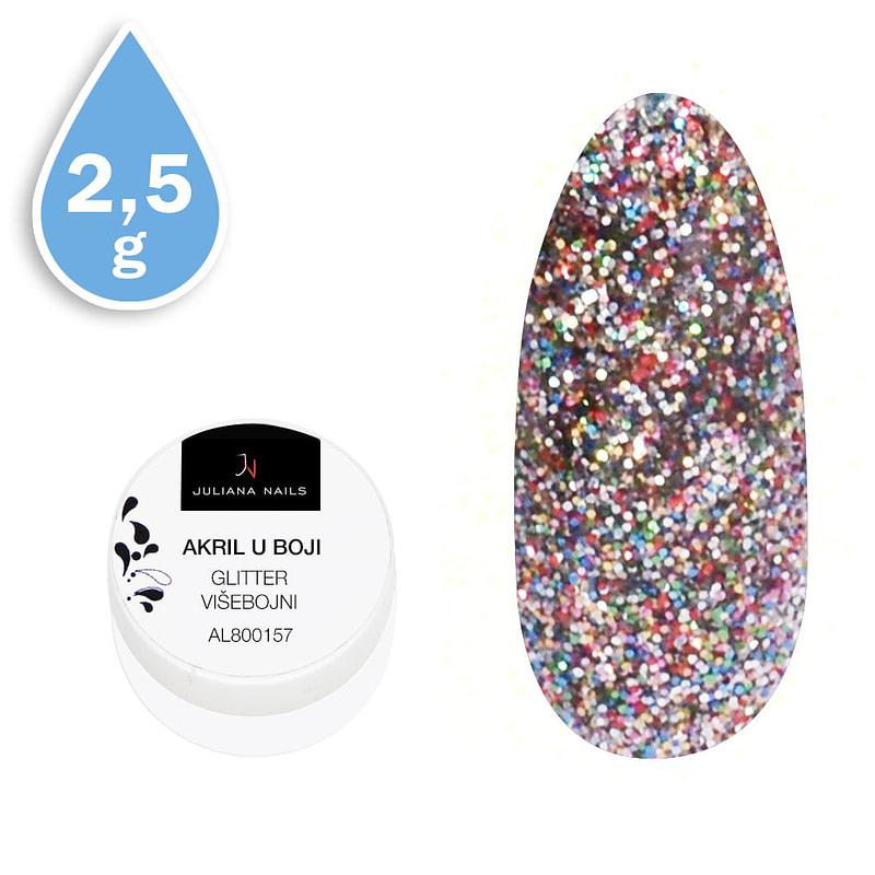 Glitter akril u boji višebojni 2,5g