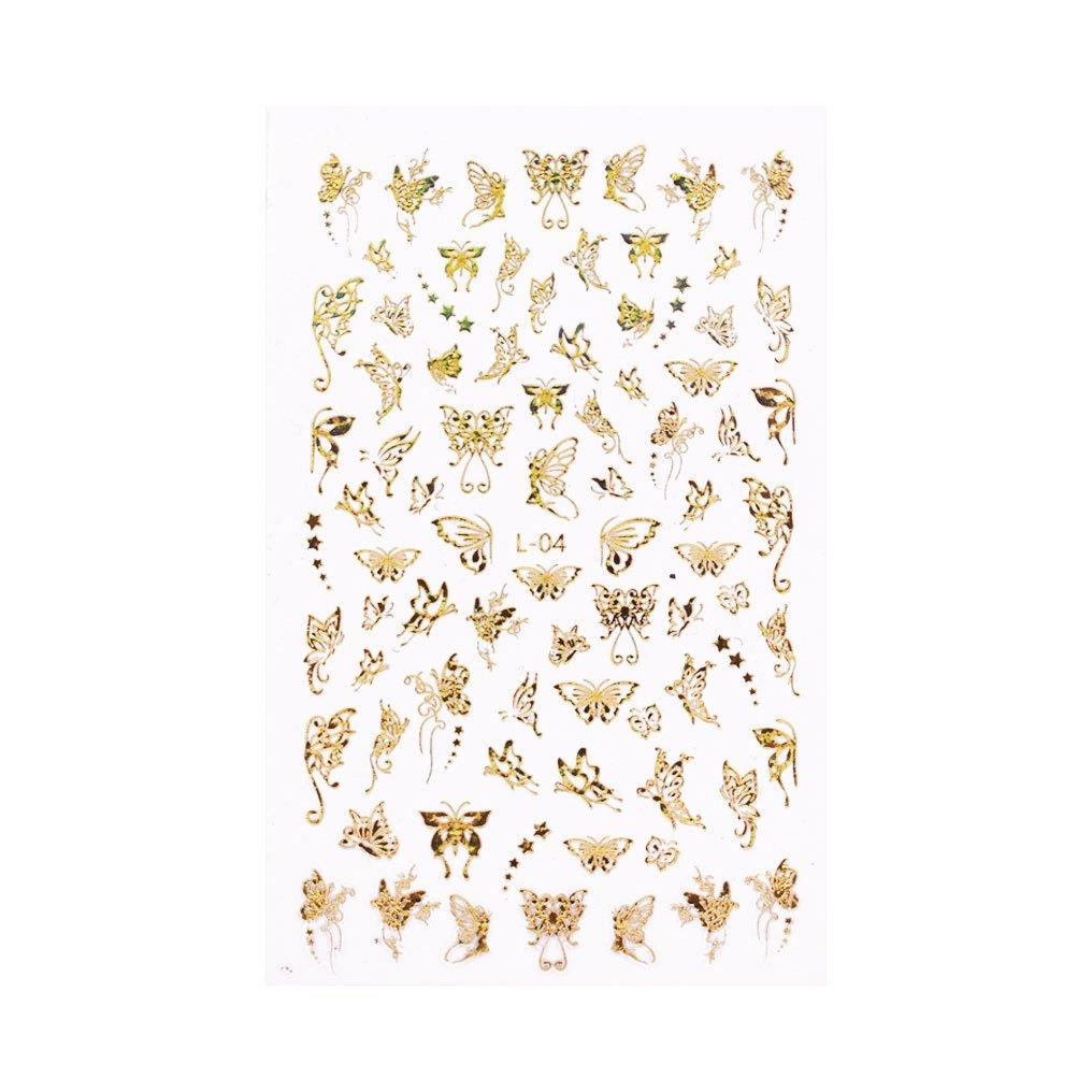 Holo Nail Art Naljepnice Butterfly Kisses 6
