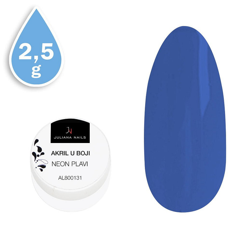 Akril u boji neon plavi 2,5g