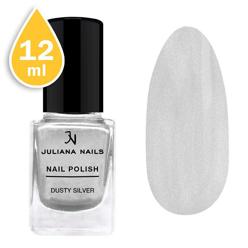 Lak za nokte chrome Juliana Nails 12ml – dusty silver