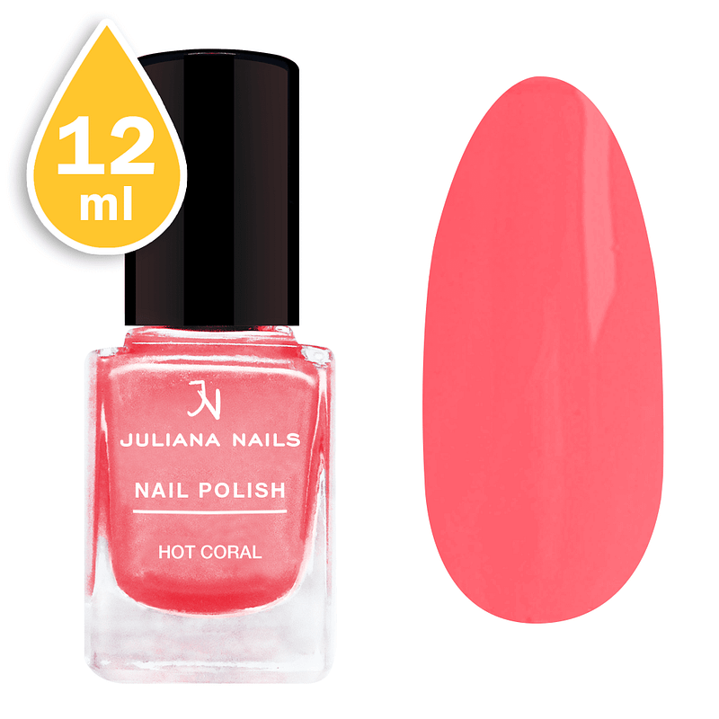 Lak za nokte Juliana Nails 12ml - hot coral