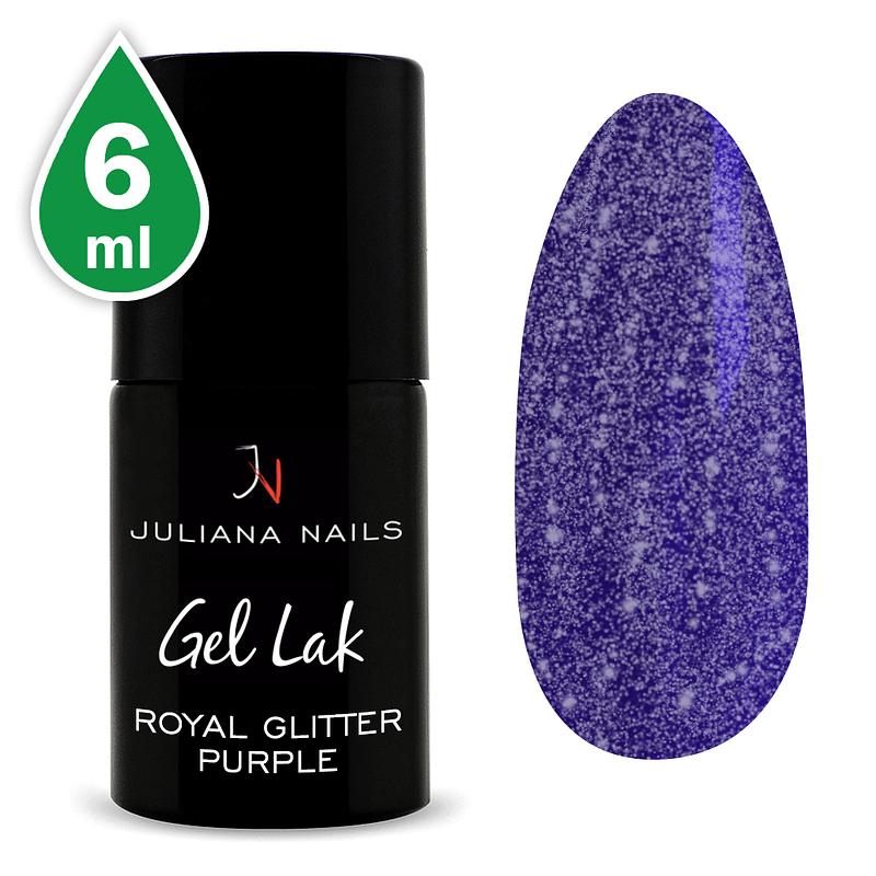 Gel lak (trajni lak) Royal Glitter Purple 6ml