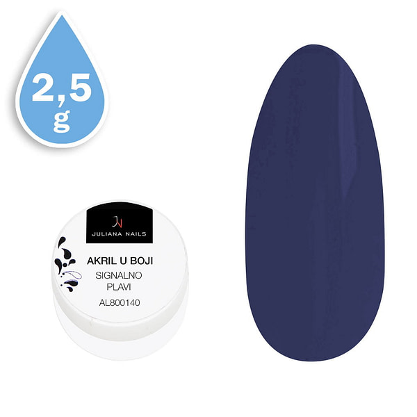 Svjetlucavi akril u boji signalno plavi 2,5g