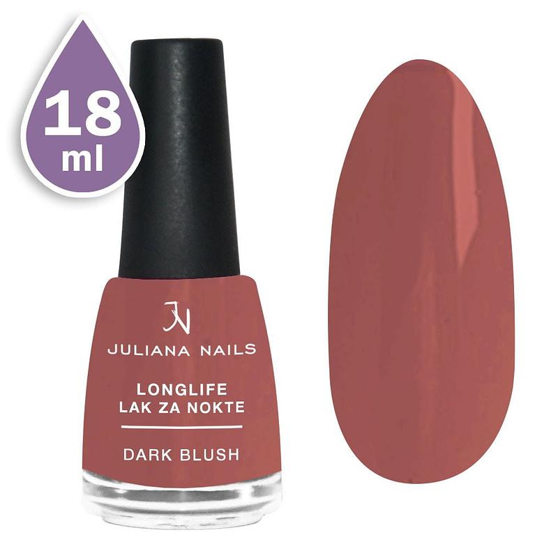Longlife lak za nokte gel efekt 18ml - dark blush