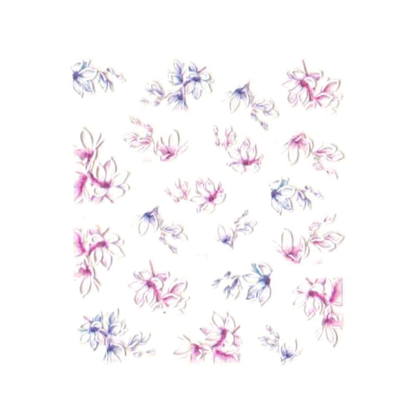 3D Nail Art naljepnica Sensual Lily