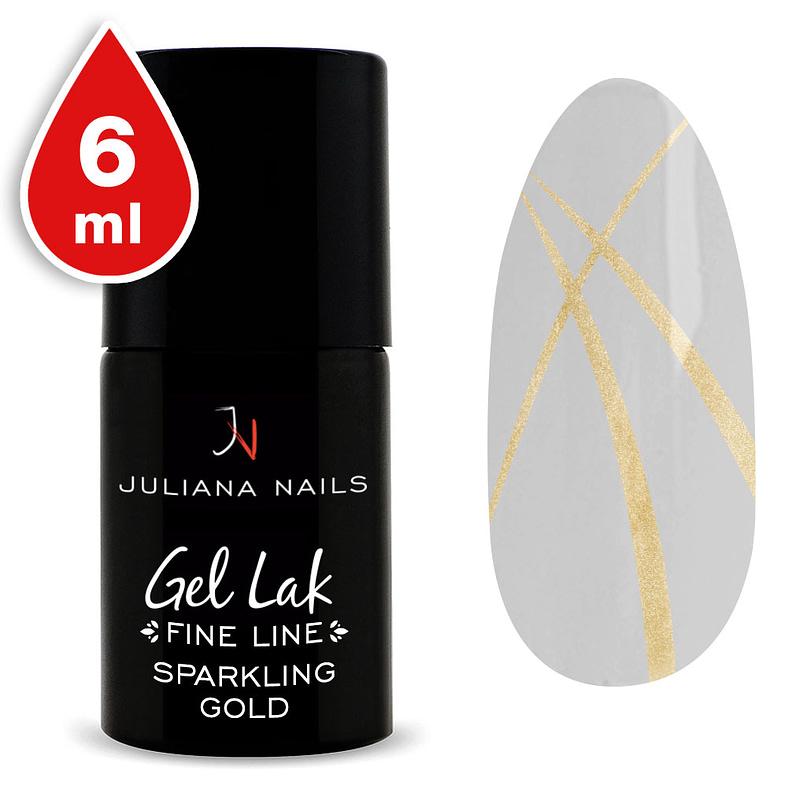 Gel lak (trajni lak) Fine Line Sparkling Gold 6ml - Juliana Nails