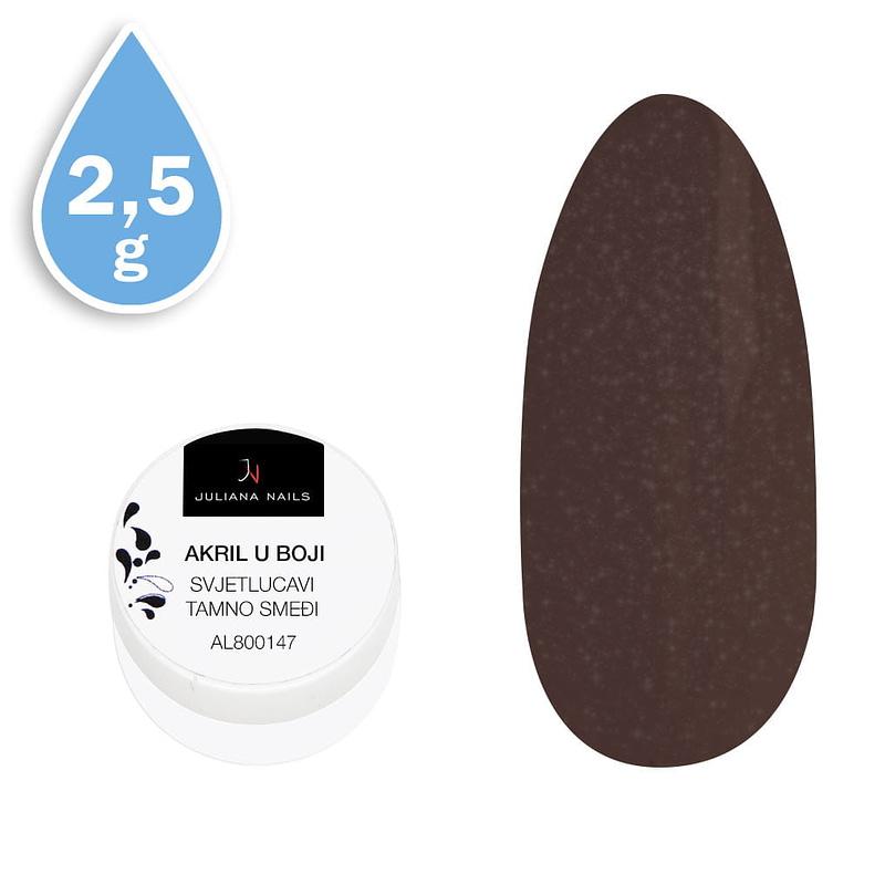 Svjetlucavi akril u boji tamno smeđi 2,5g