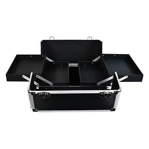 Kofer za pribor za uređenje noktiju Professional - crna / srebrna